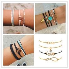 цена на Bohemian Wind Weaving Bracelet Wave Bracelet Set Bracelet Handmade Bracelet