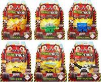 Dinosaurio de juguete con caja Original, camión de dinosaurios extraíble, Mini modelos, regalos para niños, modelos de dinosaurio