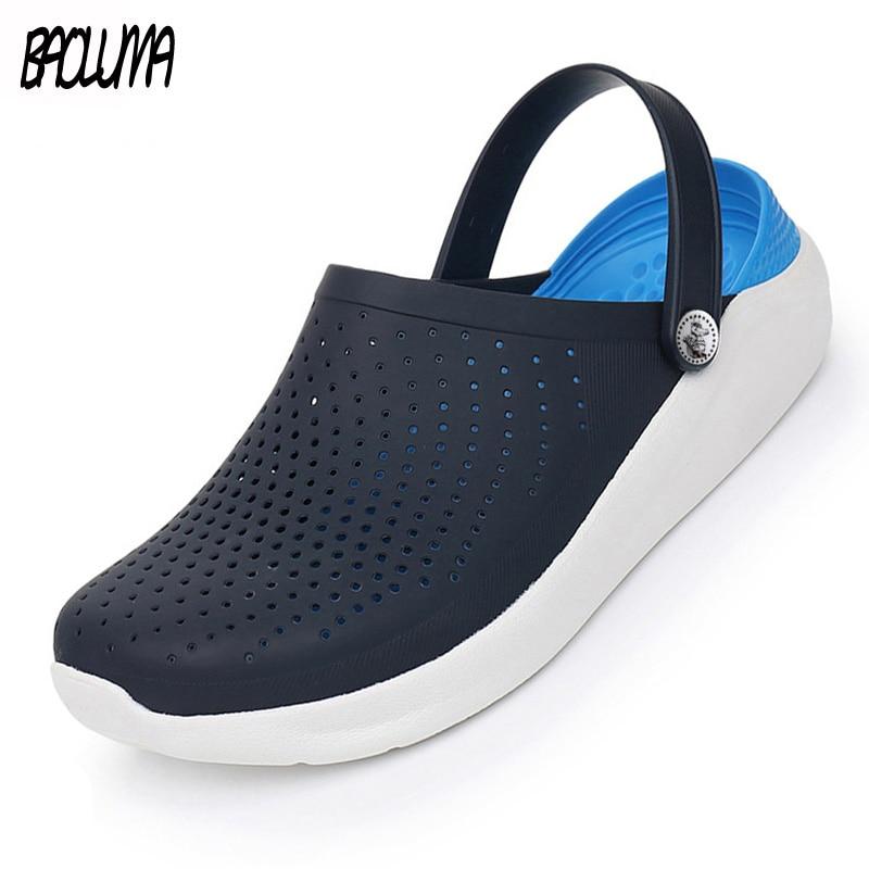 Summer Men's Sandals Comfortable Beach Sandals  Unisex Summer Croc Clogs Men's Shoes Durable Outdoor Crocks Water Shoes