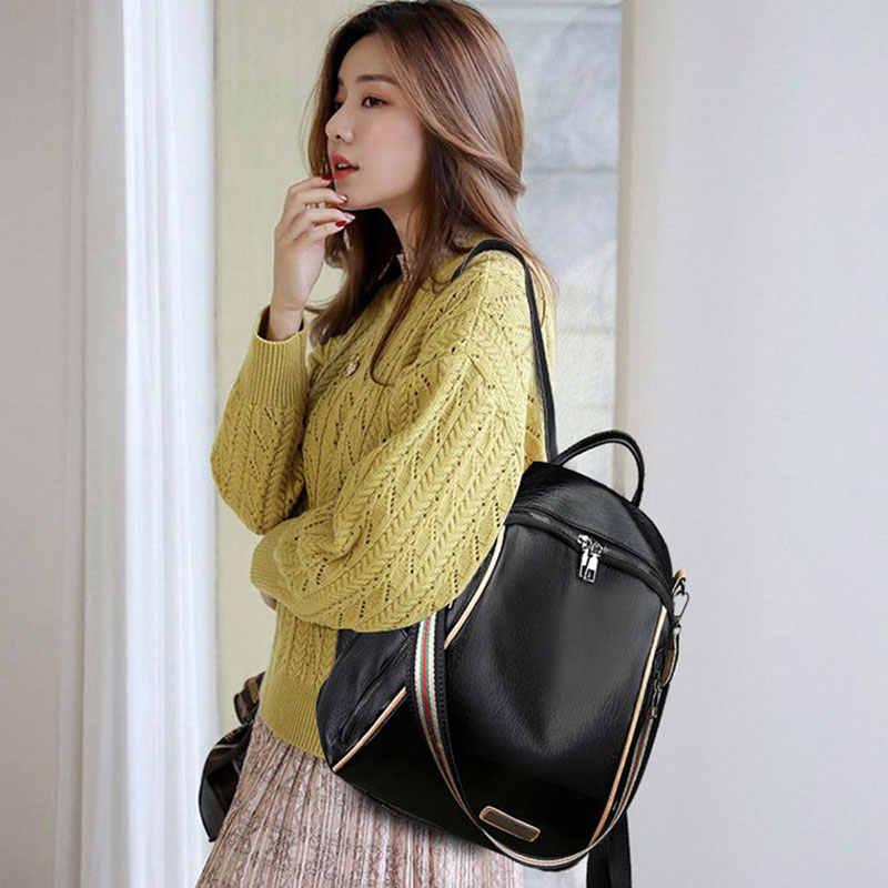 Bolso de hombro a la moda para mujer, mochila de gran capacidad para mujer, mochila escolar para chicas adolescentes, mochila ligera de viaje para mujer