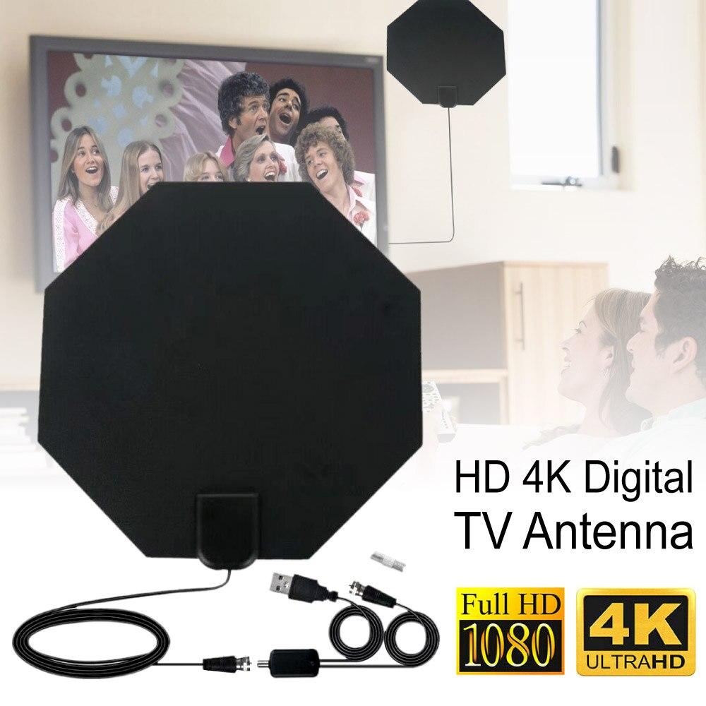 TY46D HD 4K цифровая ТВ антенна 980 миль с усилитель светильник USB разъем питания антенна цифровой ТВ приемник сигнала        АлиЭкспресс