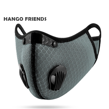 Hango Reusable Face Mask Protective PM2.5 Cycling Tactical Sports Mask with Filter Washable Fabric Masks Men Face Cover Shield