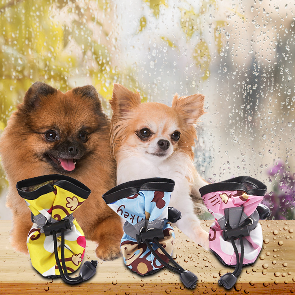 Pet Dog Shoes Cute Comfortable Anti-slip Accessories Puppy Cat Rain Boots  For Cats