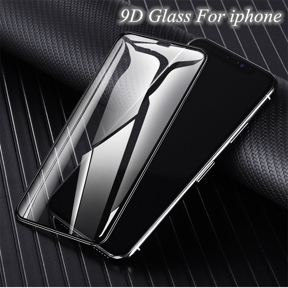 9D Tempered Glass For Iphone 11 Pro X XS Max XR Plus Protective Film For Apple Phone 11 X 8 7 6 6S Full Cover Screen Protector