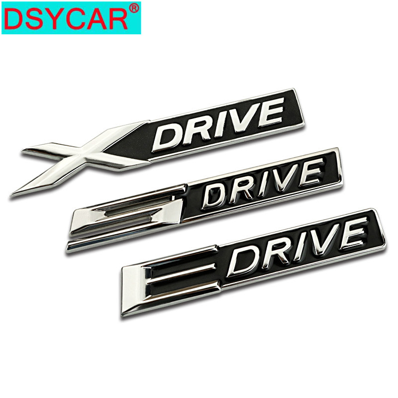 DSYCAR 1Pcs 3D Metal X E 5 <font><b>Drive</b></font> Car Side Fender Rear Trunk <font><b>Emblem</b></font> Badge Sticker Decal for <font><b>BMW</b></font> Audi Honda car Jeep Nissan VW image