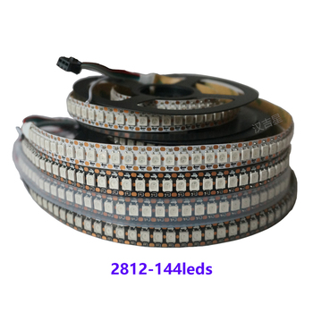DC5V WS2812B 1M RGB LED Strip white/black PCB 144 Pixels IC built-in Individually Addressable 144leds/m Digital 5050 SMD sk6812 1m 2m mini 3535 addressable rgb led pixel strip 144leds m dc5v non waterproof with full color 144pixels m 8mm white pcb
