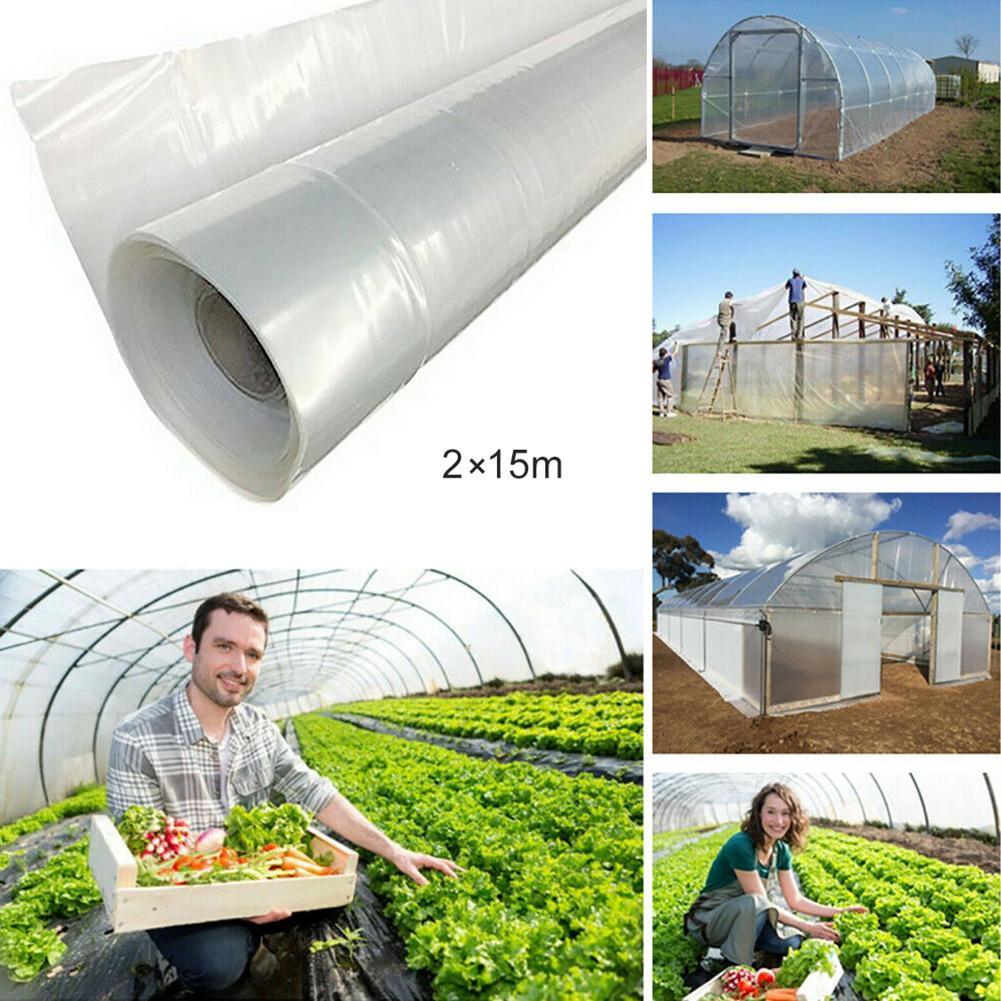 Película protectora de plástico para cultivo agrícola invernadero vegetal transparente de 15m Tienda de cultivo hidropónico interior para luz Led de cultivo, caja de cultivo de plantas, invernaderos de jardín no tóxicos reflectantes Mylar