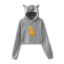 Pokemon Autumn Teenager Girls Harajuku Hooded Pullovers Women Fashion Short Hoodies Spring Harajuku Streetwear Sweatshirts(China)