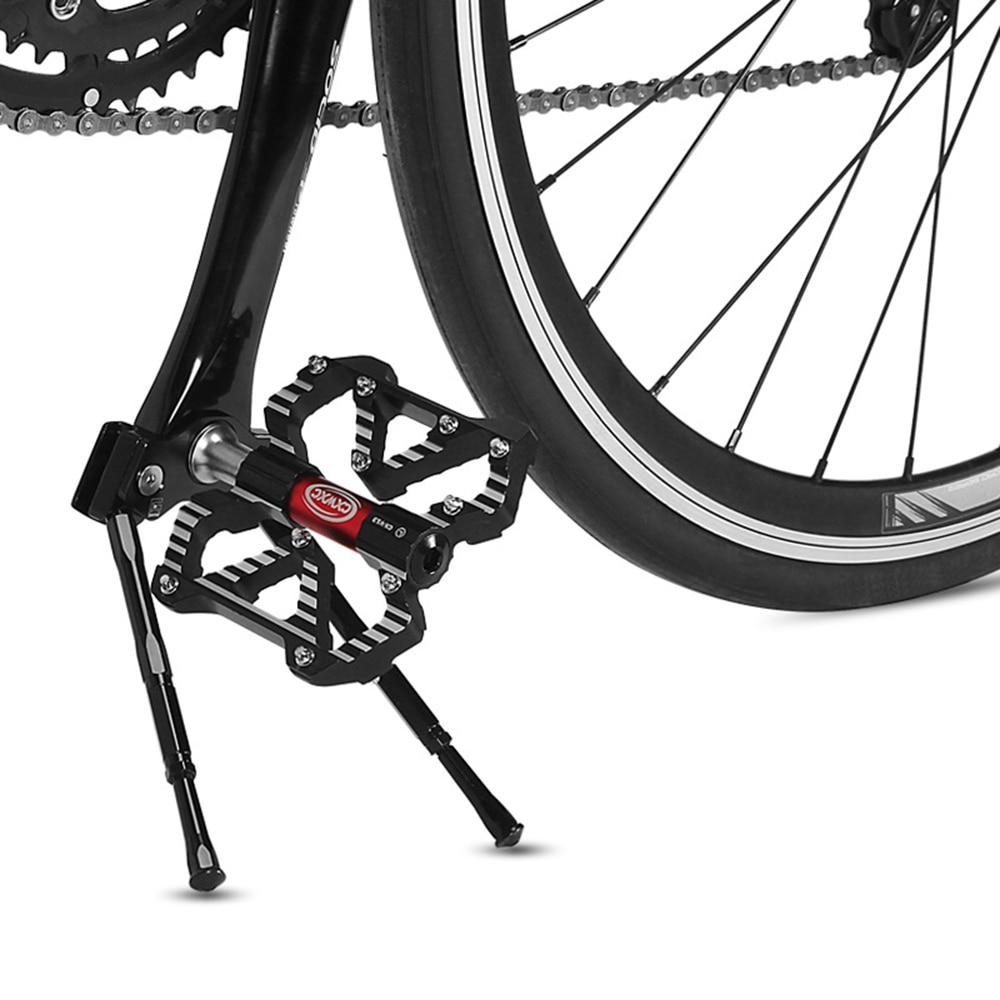 Adjustable MTB Bike Side Kickstand Aluminium Alloy Bicycle Stand Side Kick Black