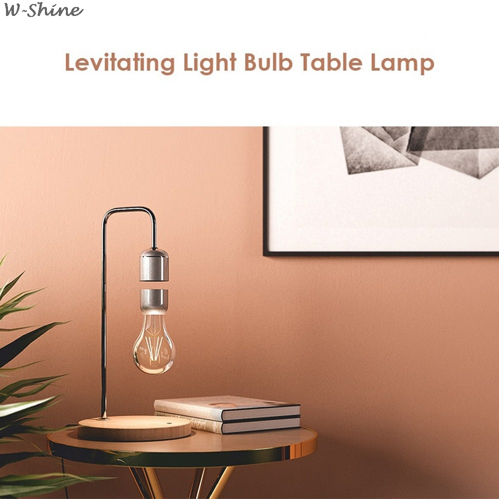 Levitating Lamp - with Wireless Charger