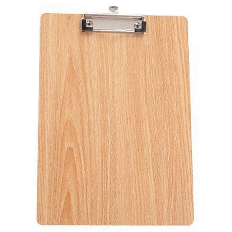 А4 Размер Деревянный планшет клип доска офисные школьные канцелярские принадлежности с подвесная папка с отверстиями для файлов