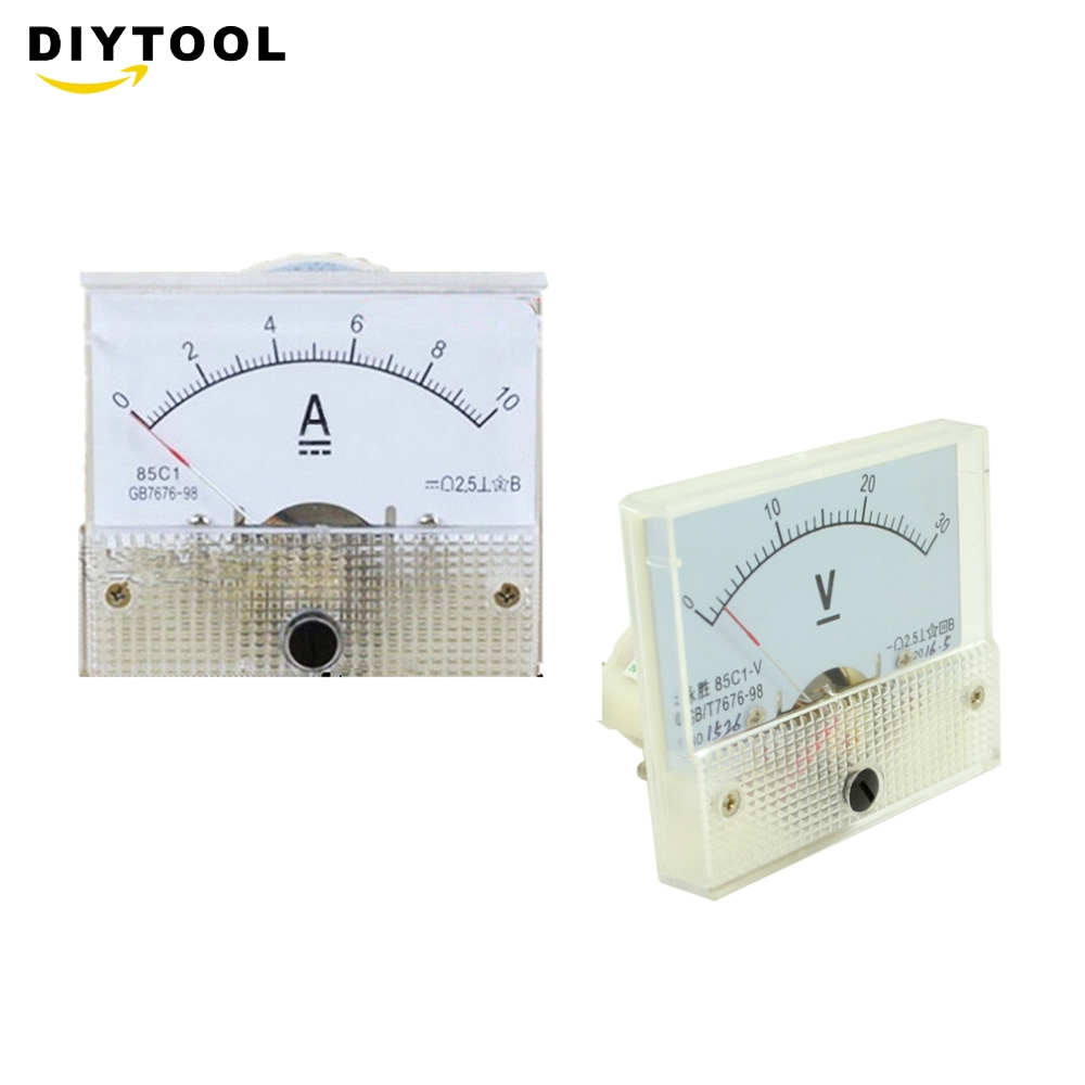 Mechanical Ammeter <font><b>DC</b></font> Analog Current Meter Panel Mechanical Pointer Type <font><b>DC</b></font> <font><b>0</b></font>-<font><b>30V</b></font> <font><b>0</b></font>-10A image