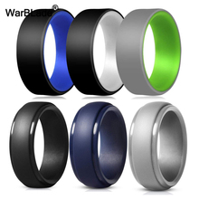 28Style Food Grade FDA Silicone Rings Hypoallergenic Flexible Sports Antibacterial Silicone Finger Ring Men Wedding Rubber Bands
