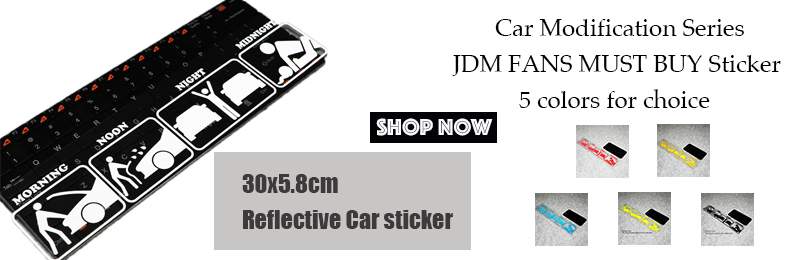 Funny Creative PET Cute Car Sticker Decal Morning Noon Night JDM Funny Life