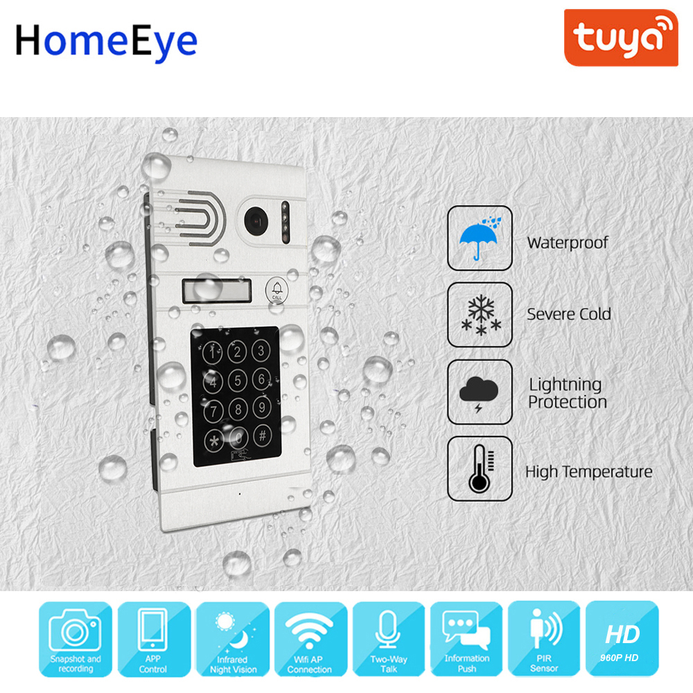 Tuya smart Home, Casa Intelligente App di Controllo Remoto WiFi IP Video Telefono Del Portello Del Video Citofono di Controllo di Accesso Tastiera a Codice di Rilevazione di movimento + IC carta - 4
