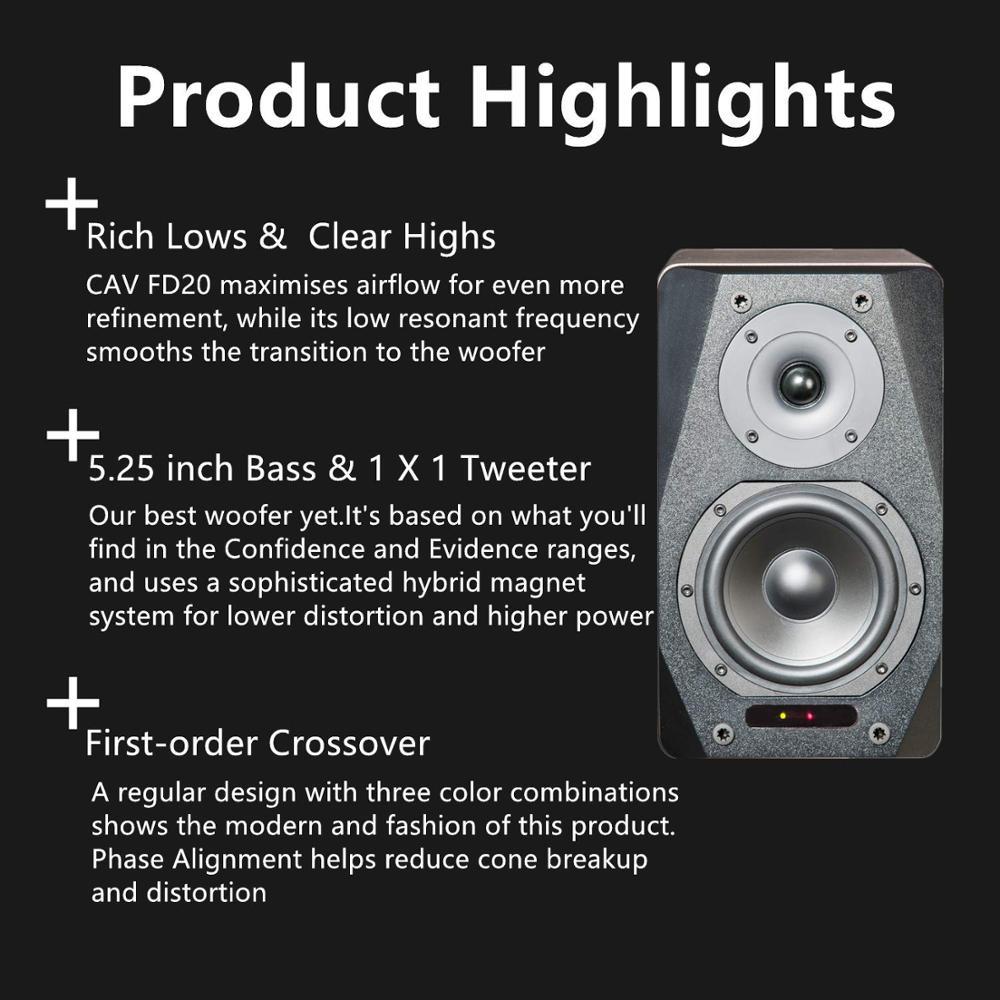 CAV FD-20 Bookshelf Speaker 2.0 Bluetooth Speaker SoundSystem Wood MusicSpeakers For Computer Column Soundbar 5.25Inch Newest 6