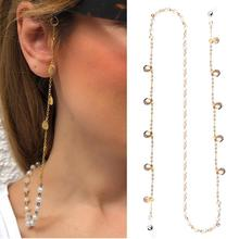 NEW Fashion Women Elegant Pearl Shell Anti-Slip Chain Eyewear Holder Lanyard Nec