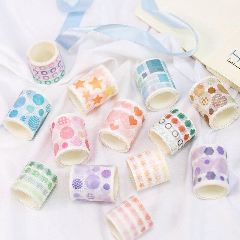 1 Pcs/lot DIY Japanese Paper Decorative Adhesive Tape Qi Jin Series Washi Tape/Masking Tape Stickers