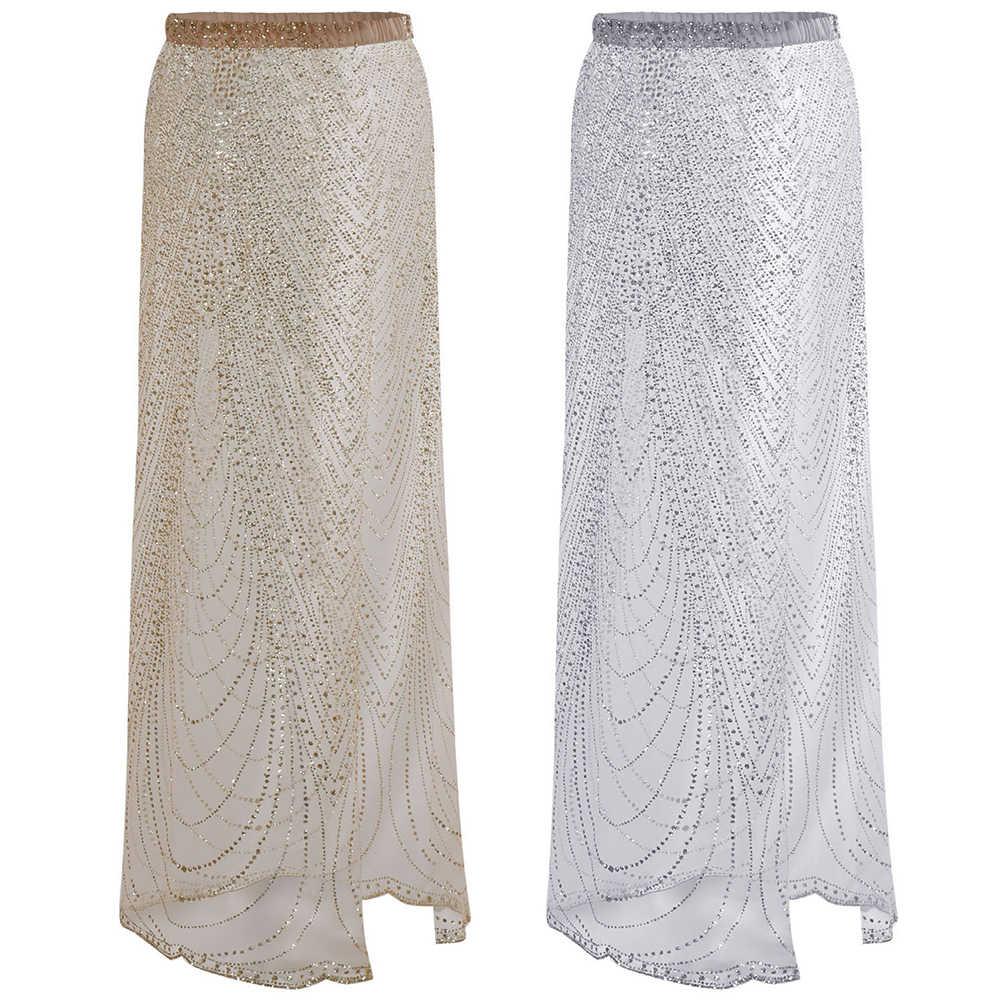 Сексуальная летняя Прозрачная женская юбка с высокой талией, Пляжная накидка, Раздельный купальник, блестящие стразы, для путешествий
