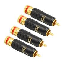 רמקולים RCA מחבר זהב מצופה נחושת זכר WBT 0144 RCA מתאם תקע ברגים הלחמה נעילה אודיו וידאו כבל לוטוס שקע