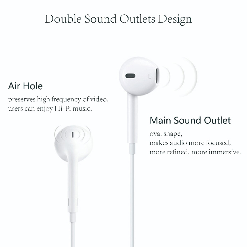 Applets Earpods high  Earphones 3.5mm Plug & Lightning In-ear Sport Earbuds Deep Richer Bass Headset For iPhone/iPad Android