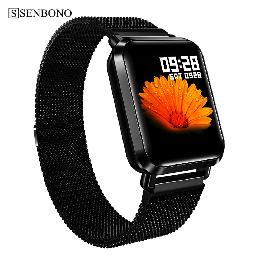 SENBONO IP68 sn70 Smart Watch Full Screen Touch smartwatch Men Women Sport Heart Rate Monitor Clock Sleep Monitoring for IOS p70-in Smart Watches from Consumer Electronics on AliExpress