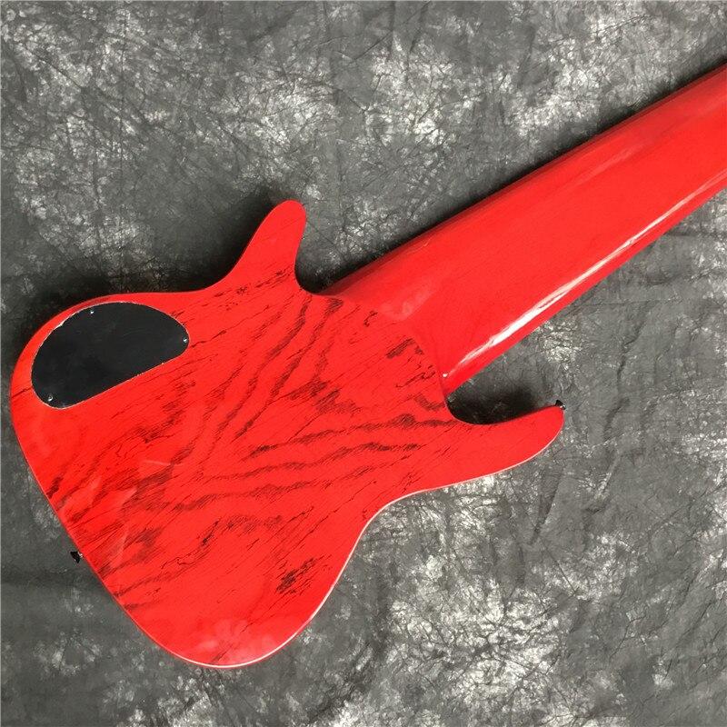 Высококачественная электрическая бас-гитара, красный, 11-строка электрогитара. Черная фурнитура. Хорошее качество звука. Классическое качество 6