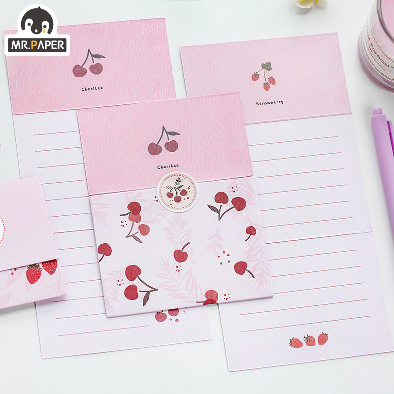 Mr.Paper Chinese Ancient Style Flowers Greeting Card Butter Paper Envelopes with Seal Stickers Wonderful Creative Gift Envelopes 3