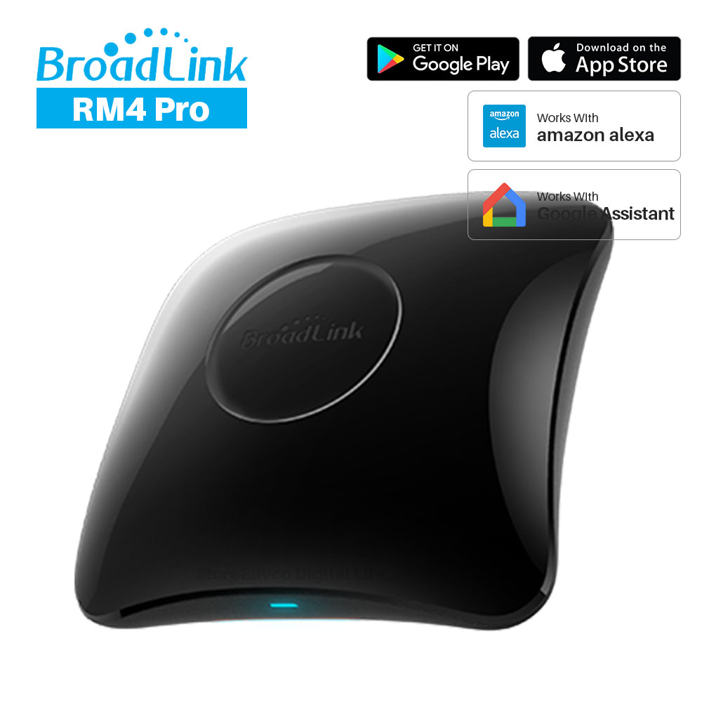 Broadlink rm4 pro wifi ir rf 범용 지능형 리모컨은 alexa google assistant smart home automation image
