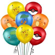 10 шт. серии Pokemon Пикачу из мультфильма детская латексная Воздушный шар с гелием на день рождения вечерние шарики для украшения детской комна...