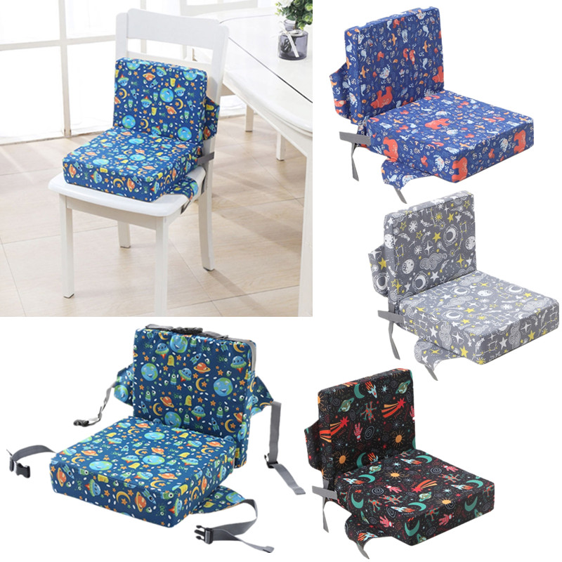2 Pc Adjustable Removable Baby High Chair Booster Pad Cartoon Anti-Skid Children Dining High Chair Sponge Increased Seat Cushion