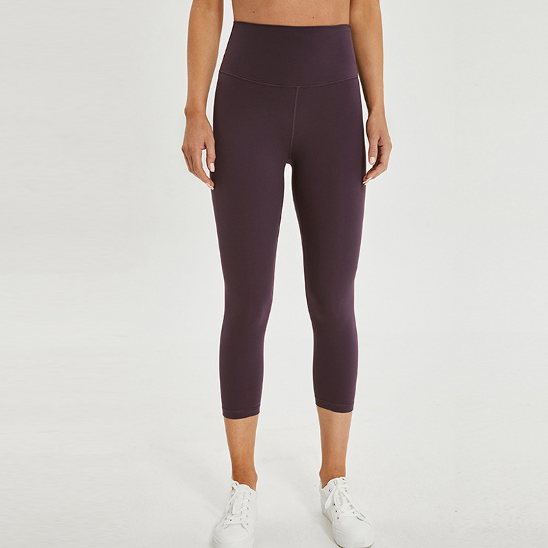 Women high rise capris sports gym crop sexy capris super quality 4 way stretch No-see throughfabric leggings