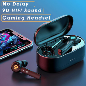Hembeer Wireless Headphones Bluetooth Earphones With Microphone No Delay Gaming Headset Noise Cancelling Earbuds HIFI Sound elekele active noise cancelling wireless bluetooth headphones wireless headset with microphone for phones