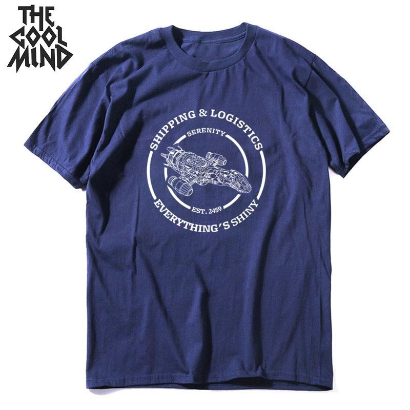 COOLMIND 100% cotton short sleeve men Tee shirt casual summer space men t shirt loose men tshirt o-neck cool t-shirt mo0148