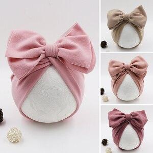 Chapéu do bebê turbante flor arcos bebê recém-nascido chapéu da menina gorro boné outono inverno infantil da criança dos miúdos meninas bonnet fotografia adereços