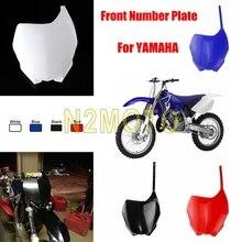 Для YAMAHA YZ125 YZ250 YZ250F YZ450F WR250F WR450F YZ 125 250 250F 450F WR 250F Мотокросс Пластик обтекатель передний номерной знак
