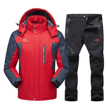 Snowboarding Jacket Suit Snow-Clothes Ski-Sets Warm Skiing Waterproof Winter New Men