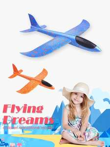 Toys Fillers Aeroplane-Model Game Glider Planes Hand-Throw Foam Flying Glow-In-The-Dark