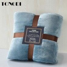 TONGDI Super Soft Warm Fannel Fleece Throw Blanket Solid Couch Cover For Winter All Season Sofa Machine Wash Plush Bedspread