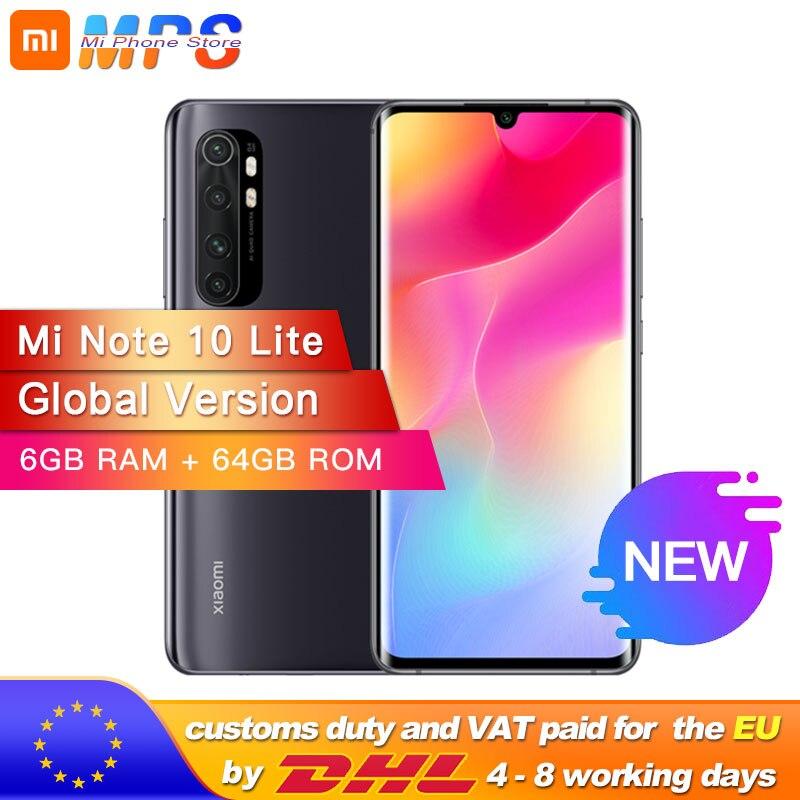 Global Version Xiaomi Mi Note 10 Lite 6GB 64GB Snapdragon 730G Octa Core 64MP Quad Camera Smartphone 5260mAh 6.47