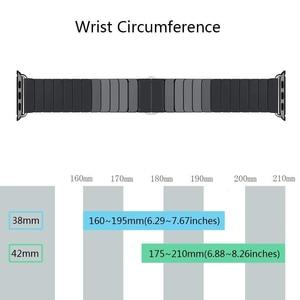 Image 3 - Ceramic Watchband for Apple Watch band 44mm 42mm Smart Watch Link Strap Bracelet Ceramic Watchband iWatch series 5 4 3 40mm 38mm