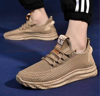 2020 Spring New Men #8217 s Shoes Sneakers flat men #8217 s Casual Shoes Comfortable Men #8217 s Shoes Breathable Mesh Sneakers Zapatos Hombre tanie i dobre opinie poetic quality or flavour Mesh (air mesh) Fabric Szycia Stałe Dla dorosłych Poliester Lato 0669 Lace-up Niska (1 cm-3 cm)