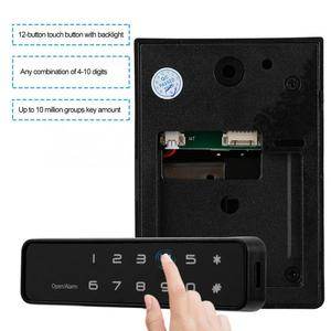 Image 3 - cabinet lock Digital Electronic 12 Button Lock Keyless Password Security Lock for Drawers Cabinets