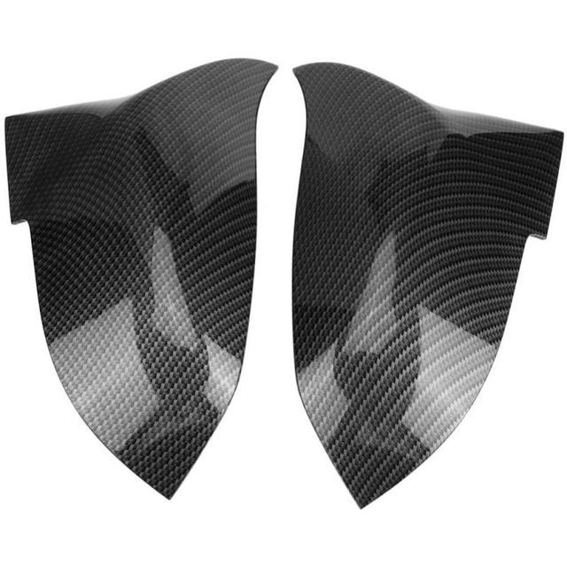 1 Pair ABS Plastic Rearview Mirror Cover Cap for BMW 220i 328i 420i F20 F21 F22 F30 F32 F33 F36 X1 E84