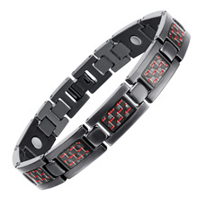 Hologram Bracelets Bangles for Men Bio Energy Healing Titanium Magnetic Bracelet Male Wristband Fashion Jewelry OTB-1271