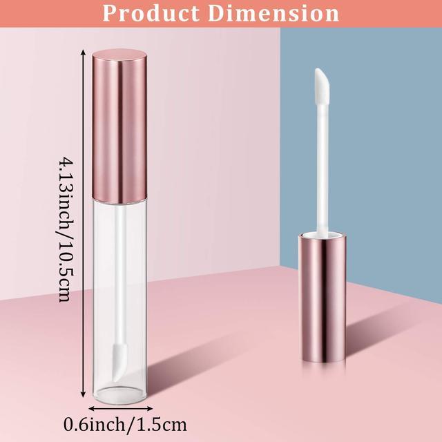30 Pcs 5 색 10 ml 립글로스 튜브 빈 리필 립 밤 병 명확한 플라스틱 립글로스 컨테이너 DIY 립스틱 도구