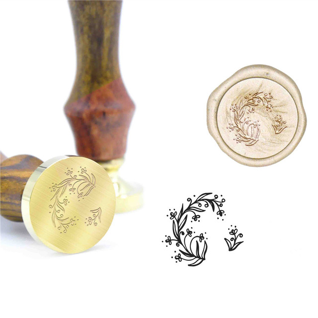 Lace Gift Pattern Wax Seal Stamps Wedding Kit gift wrapping Invitation Wax Sealing B89 Custom Initial Stamp Wood DIY