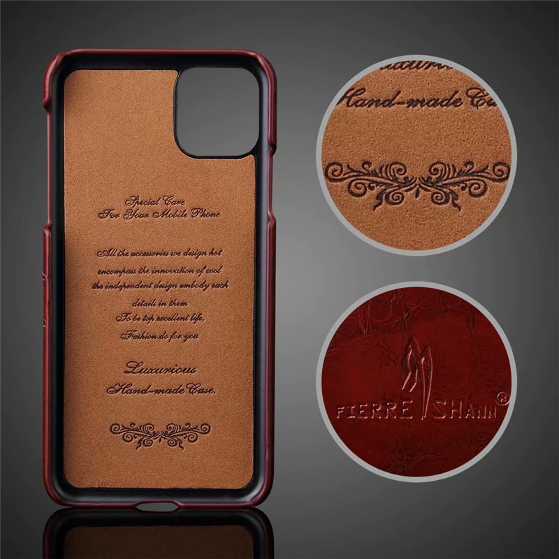 Slim Hard Leather Card Holder Case for iPhone 11/11 Pro/11 Pro Max 4