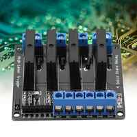 Solid State Relay DC 5v toAC 250v 2A 4 Channels SSR Module High Level Trigger with Fuse