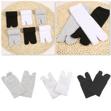 Women Men Unisex Japanese Kimono Flip Flop Sandal Socks 4.9 Split Toe Sock Tabi Two Geta Ninja Y2L3